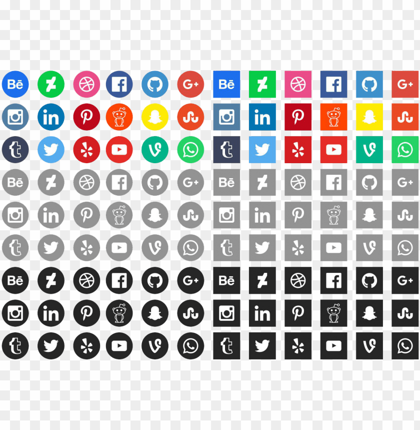 free PNG free social media icons 2018 PNG image with transparent background PNG images transparent