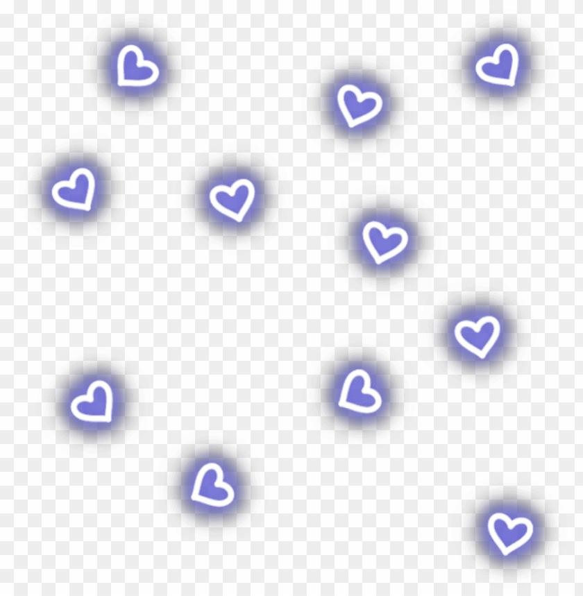 ftestickers overlay hearts light neon blue - neon lights