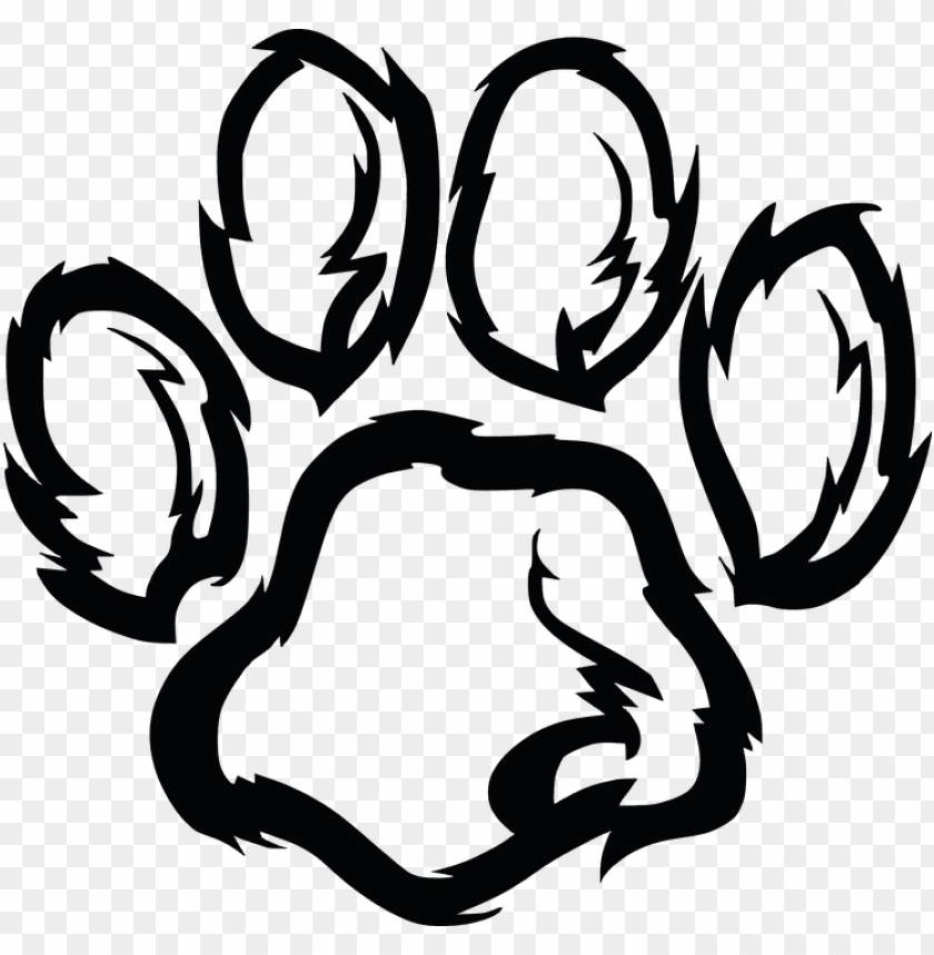 Download Furry Paw Print Png Images Background Toppng