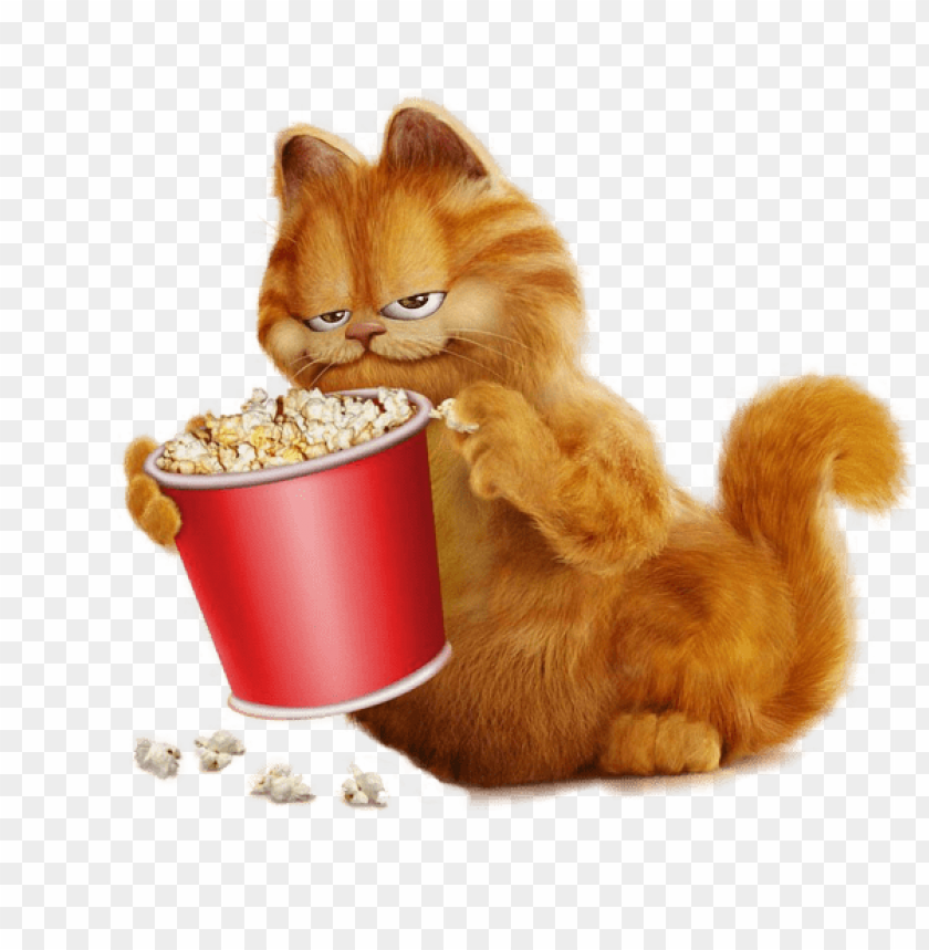 free PNG Download garfield with popcorn clipart png photo   PNG images transparent