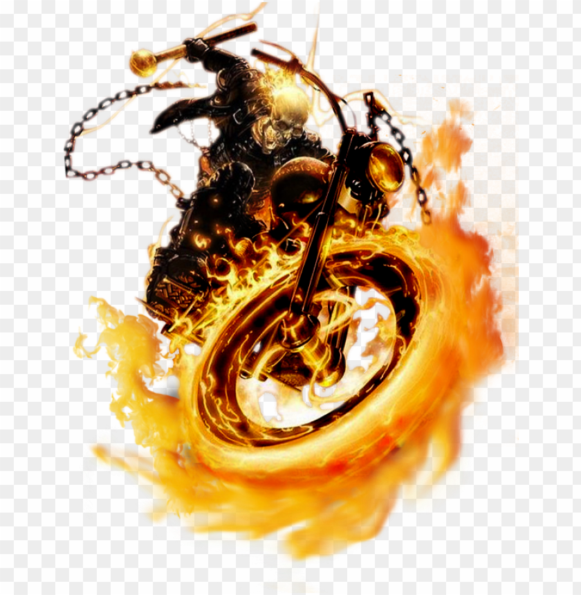 Ghost Rider Bike Png Image With Transparent Background Toppng