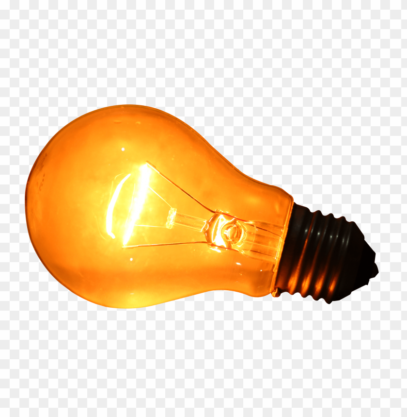 free PNG Glowing Yellow Light Bulb png images background PNG images transparent
