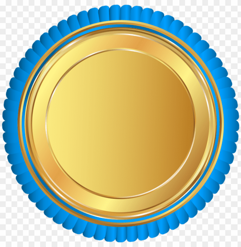 d29a115440ed free PNG Download gold blue seal badge clipart png photo PNG images  transparent