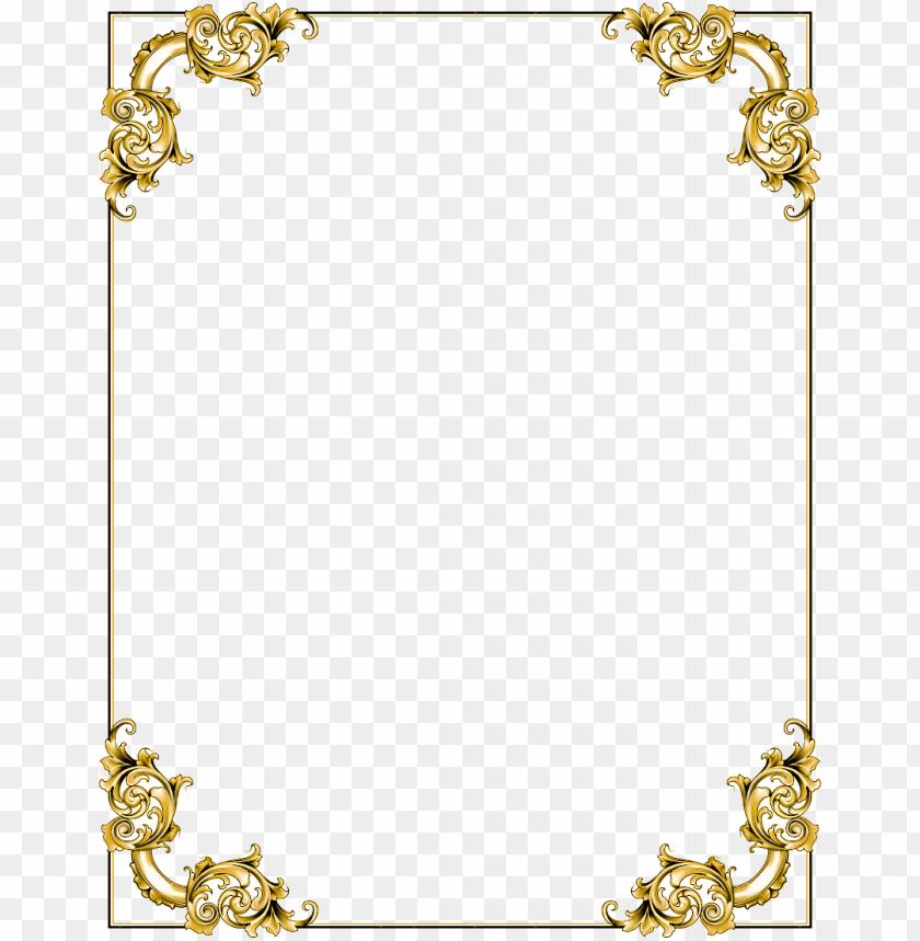 free PNG gold border frame  image png - Free PNG Images PNG images transparent