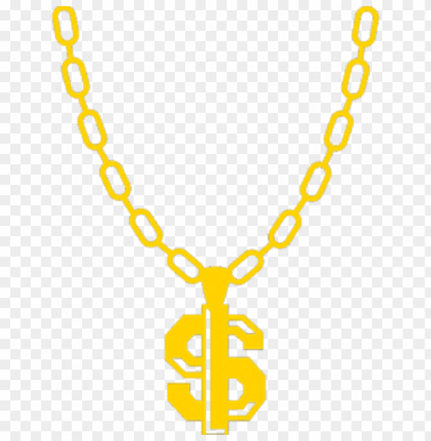 gold chain dollar sign png PNG image with transparent