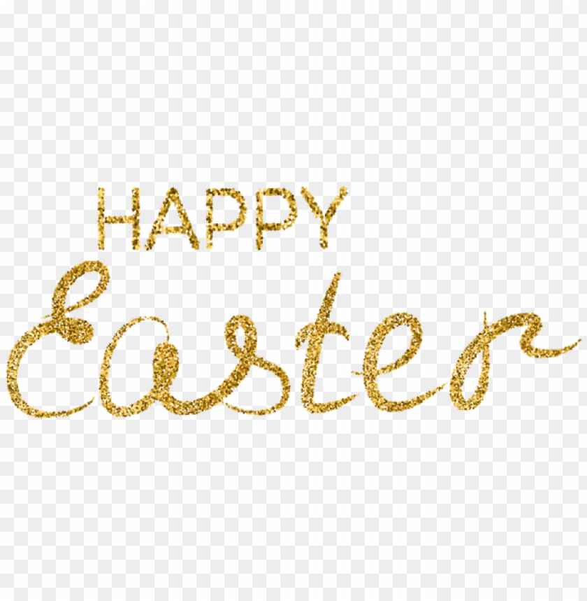 free PNG Download gold happy easter png images background PNG images transparent