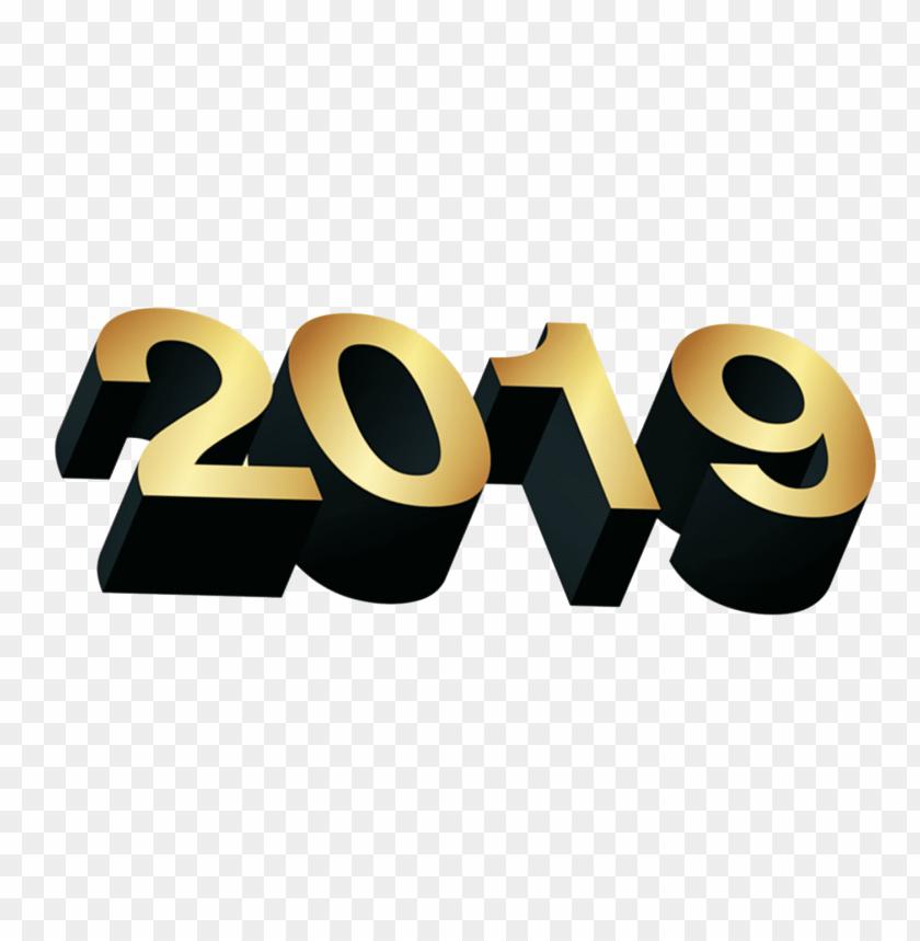 free PNG Download golden 2019 3d png png images background PNG images transparent