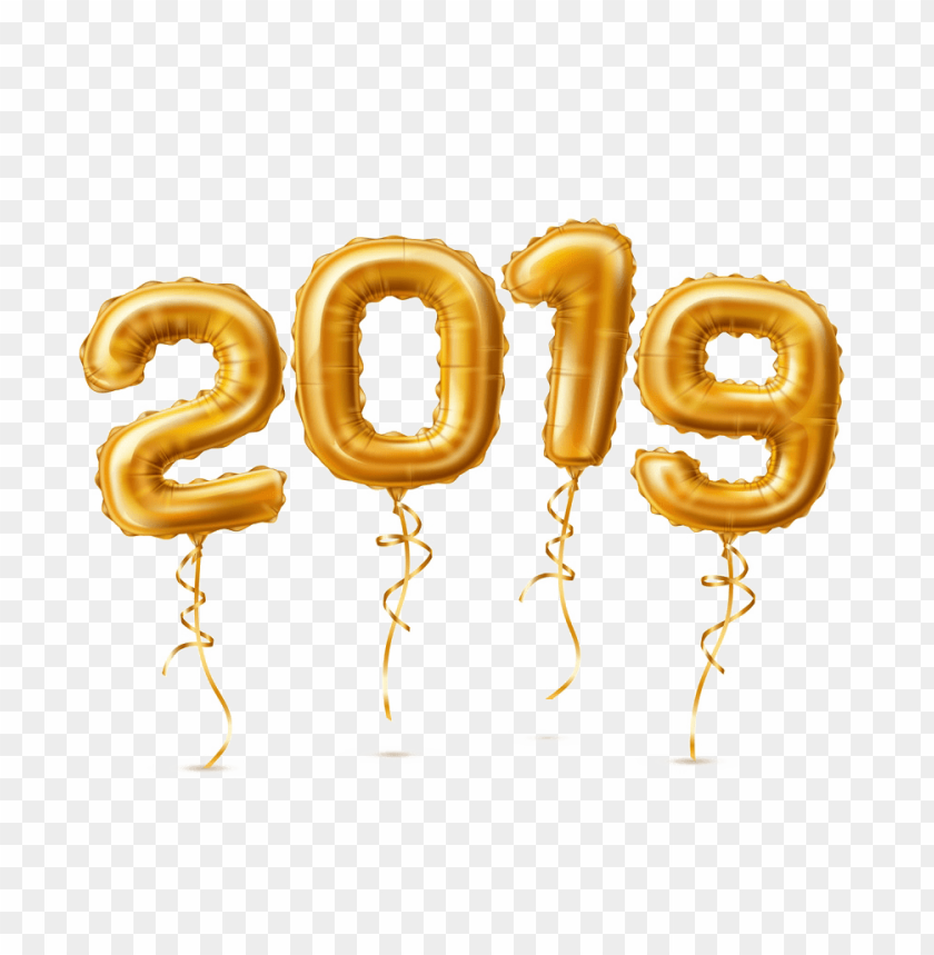 free PNG golden 2019 balloons png PNG images transparent