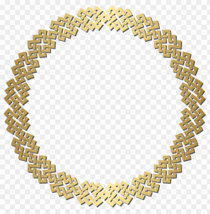 f8f90f16ffff free PNG Download golden round border frame clipart png photo PNG images  transparent