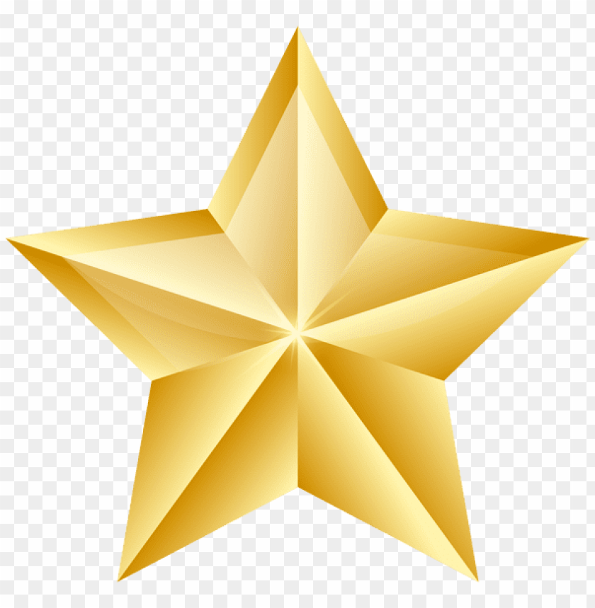 Download golden star clipart png photo   TOPpng