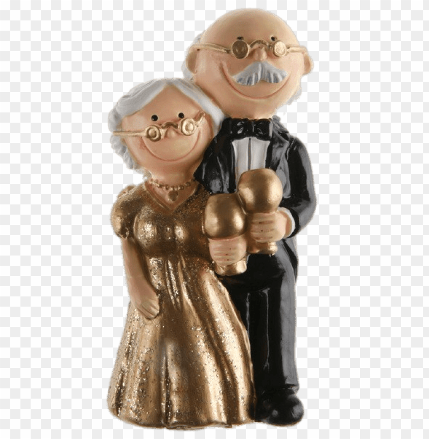 free PNG golden wedding figurines PNG image with transparent background PNG images transparent