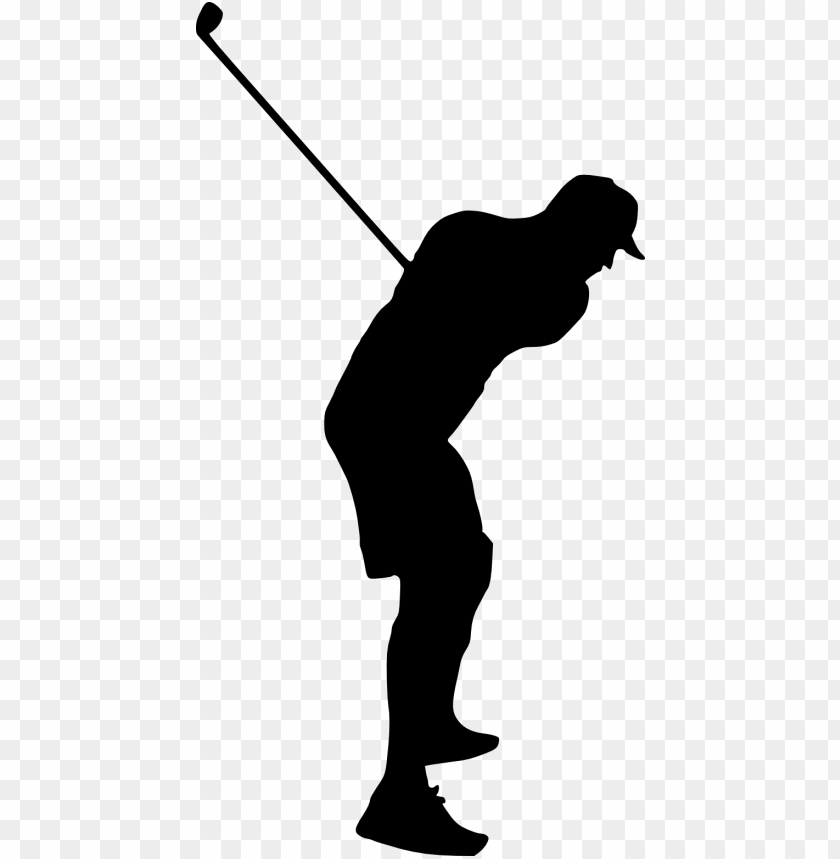 Golfer Silhouette Png Free Png Images Toppng