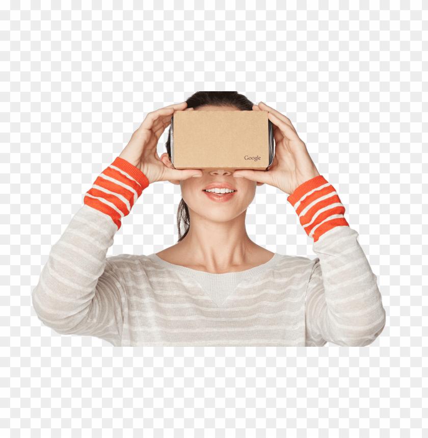 free PNG Download google cardboard vr user png images background PNG images transparent