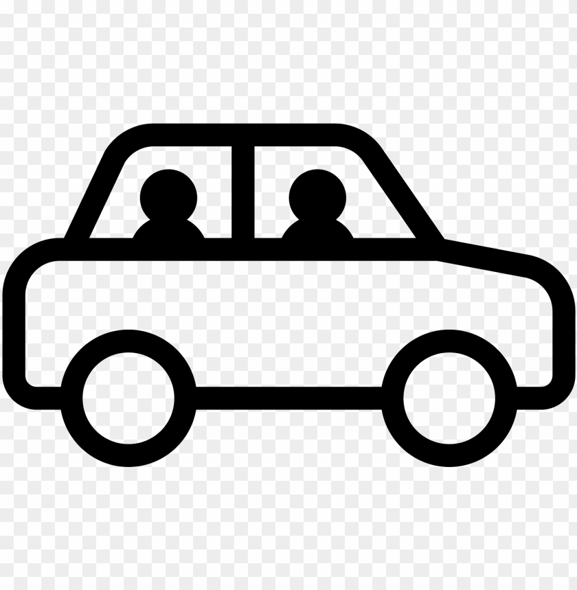 Graphic Library Stock People In Car Side View Icon Cars Icon Free