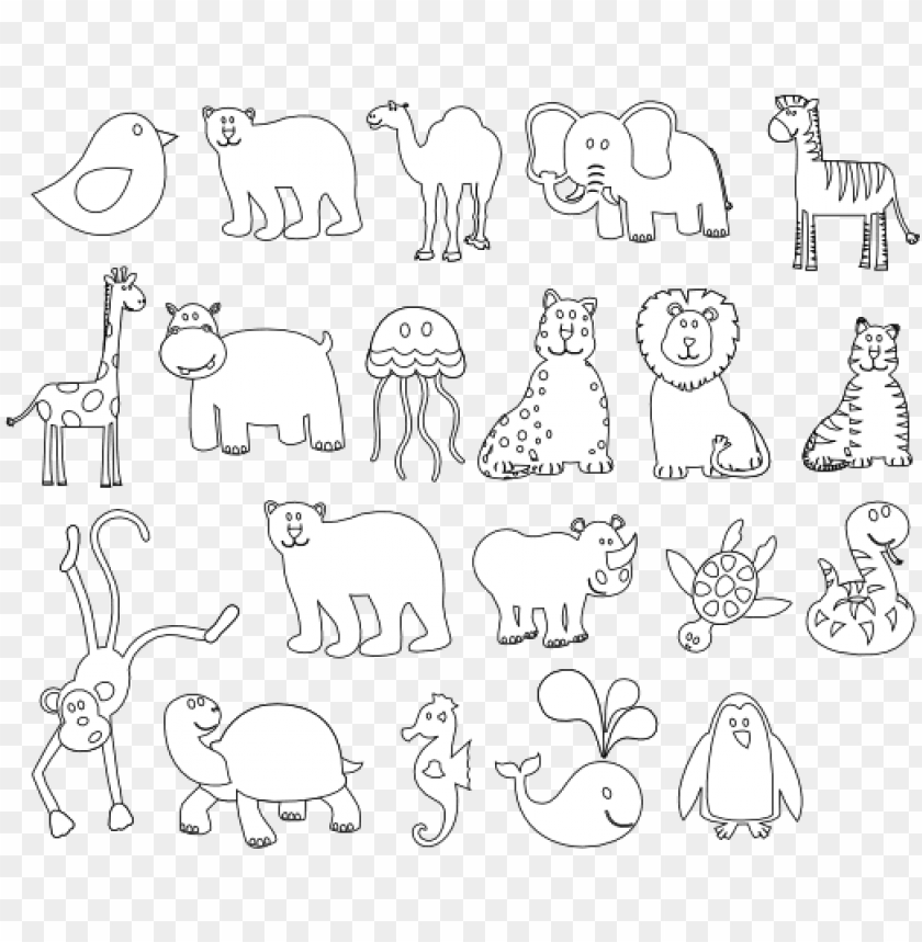 free PNG graphics of animals black and white PNG image with transparent background PNG images transparent