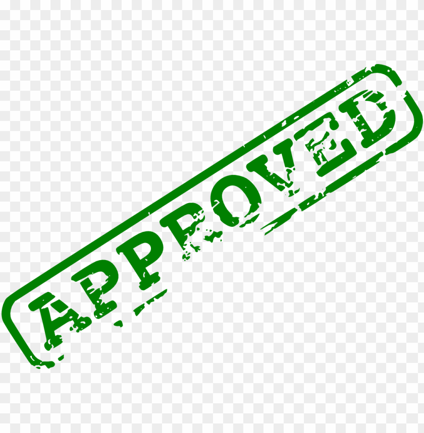 free png green approved stamp PNG images transparent
