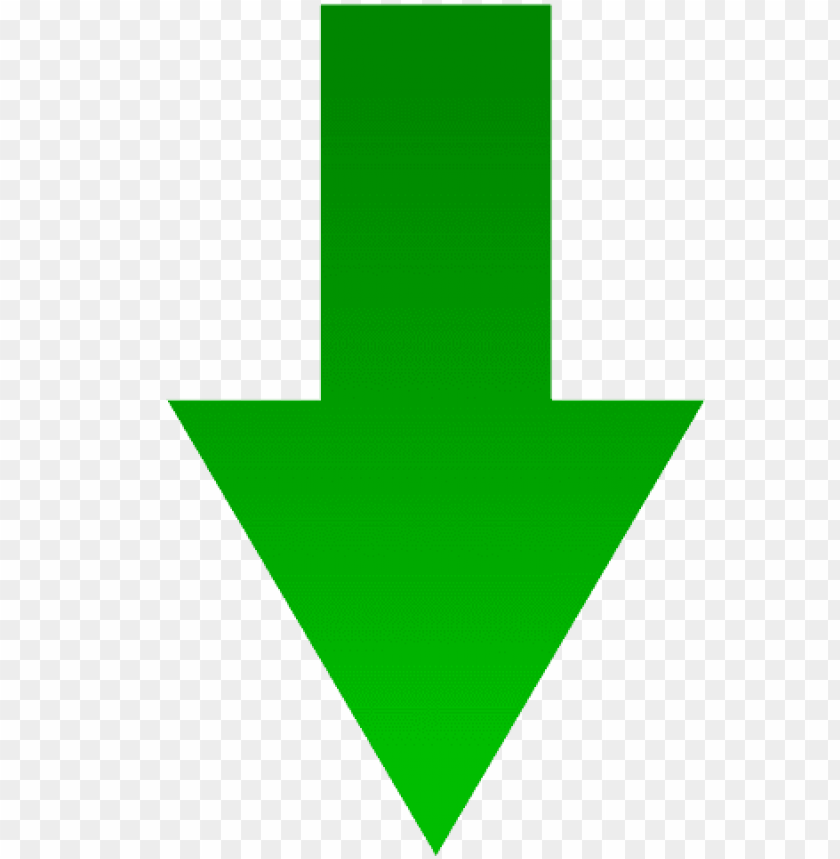 green arrow down icon PNG image with transparent background