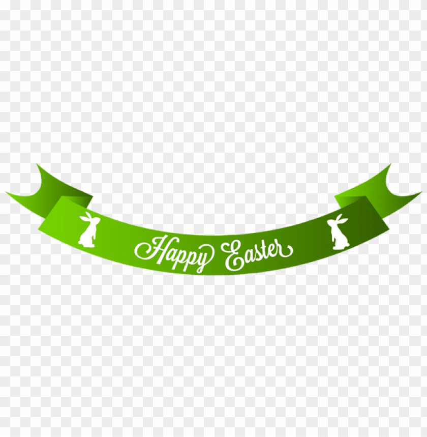 free PNG Download green happy easter banner png images background PNG images transparent