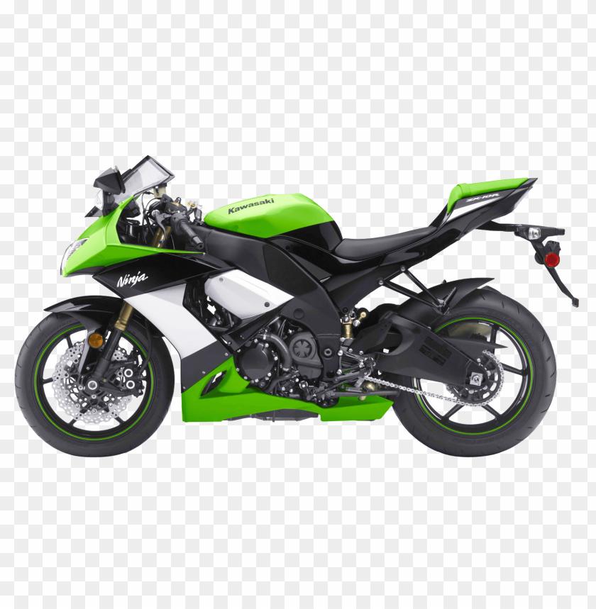 Download Green Kawasaki Ninja Zx 10r Sport Motorcycle Bike Png