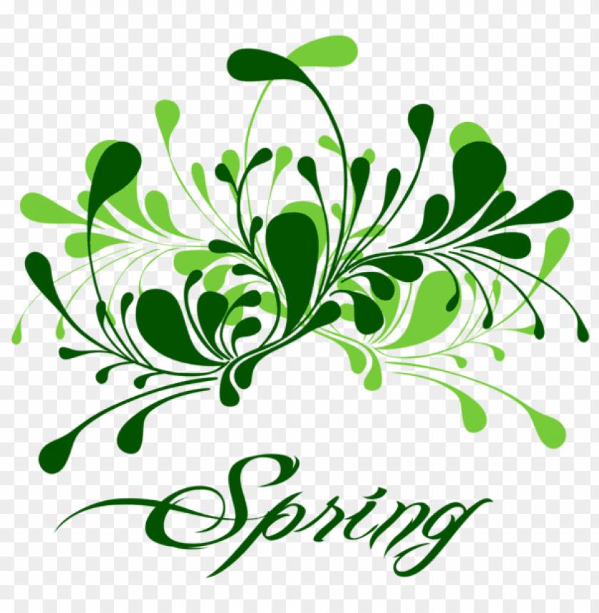 free PNG Download green spring decor png images background PNG images transparent