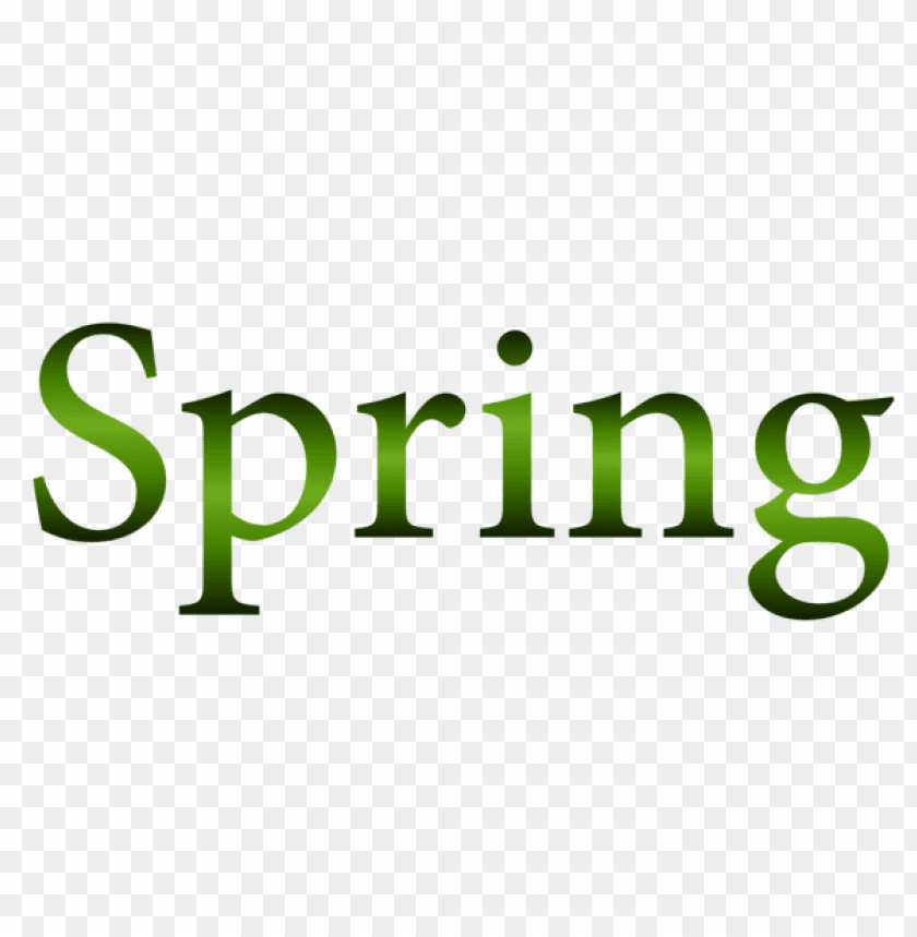 free PNG Download green spring text png images background PNG images transparent