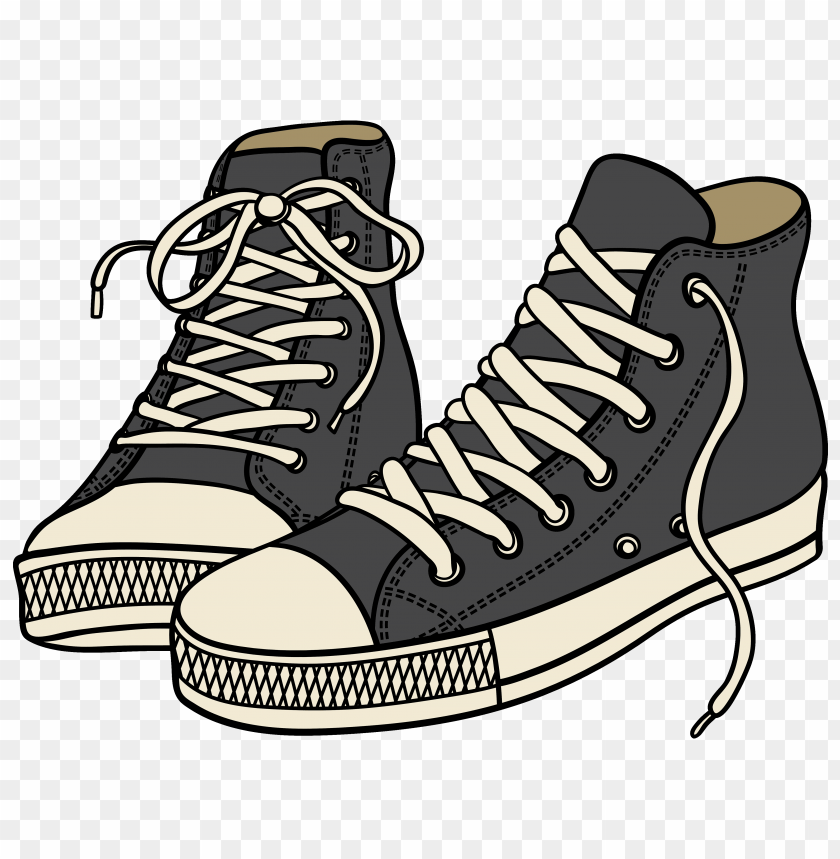 free PNG grey high sneakers PNG images transparent