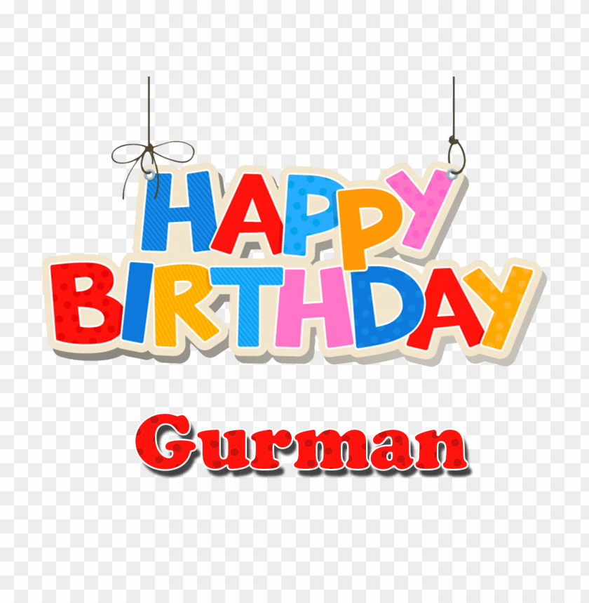 Download Gurman Happy Birthday Balloons Name Png Images Background