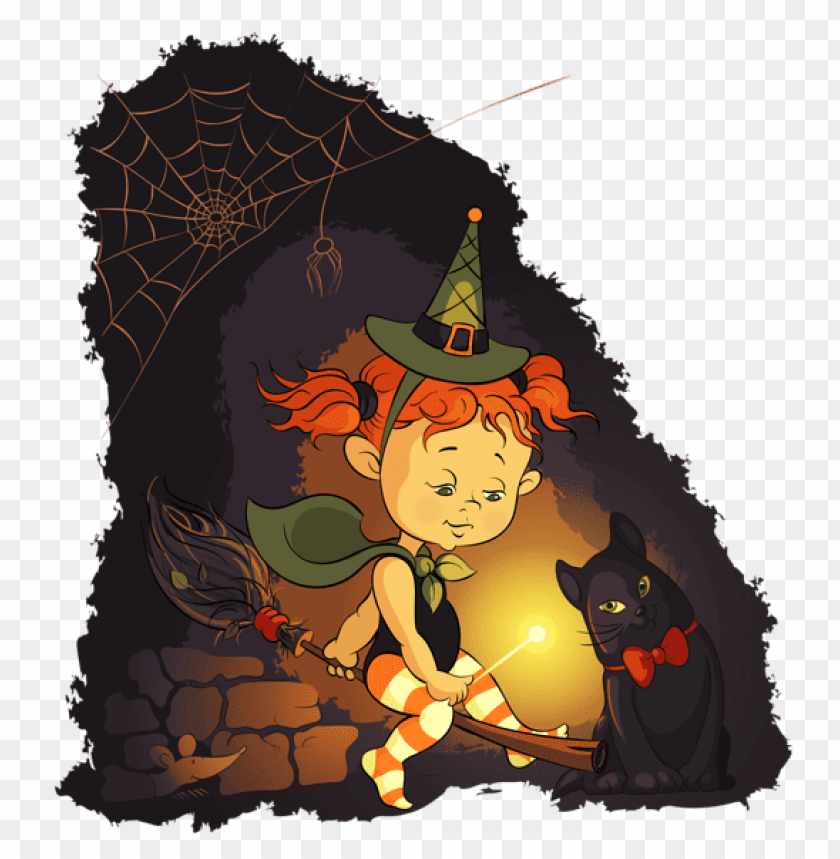free PNG halloween little witch PNG images transparent