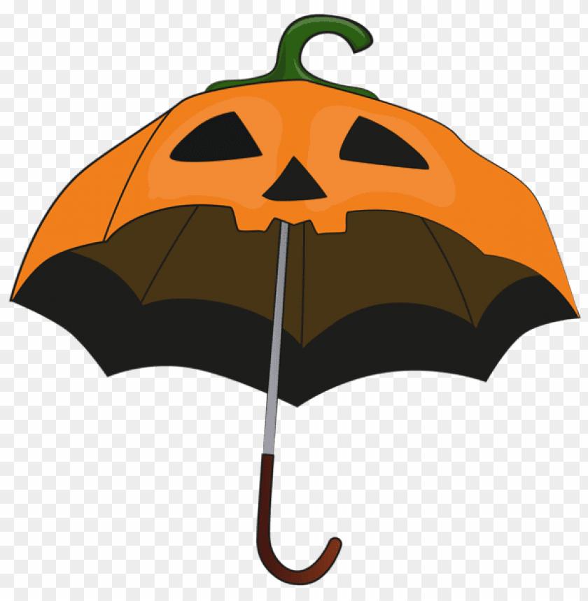 free PNG halloween pumpkin umbrella PNG images transparent