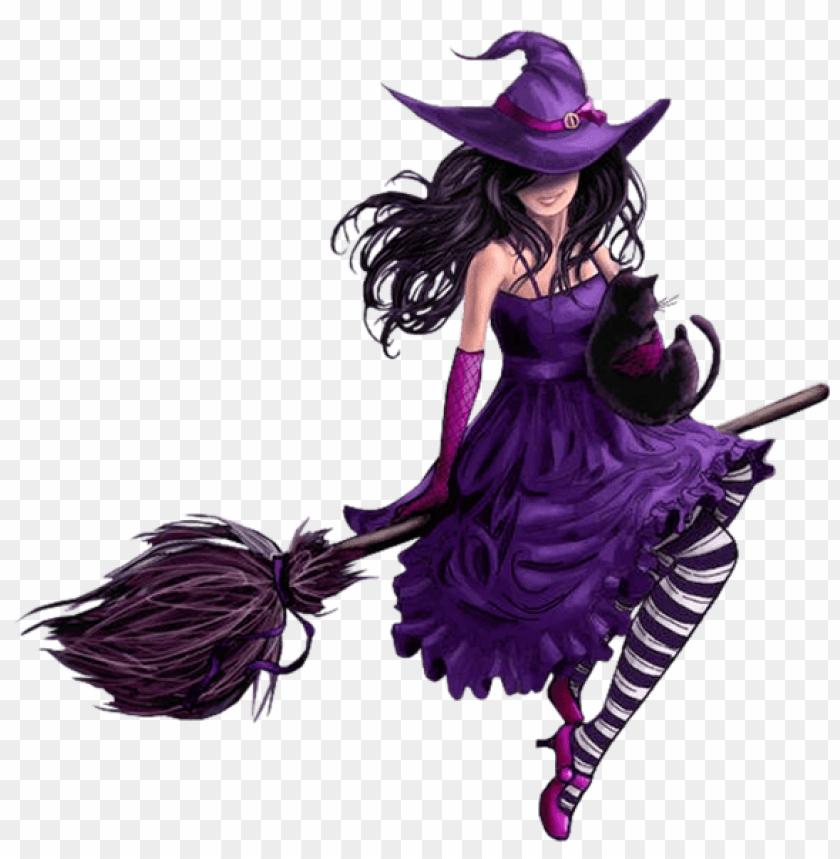 free PNG halloween purple witch PNG images transparent