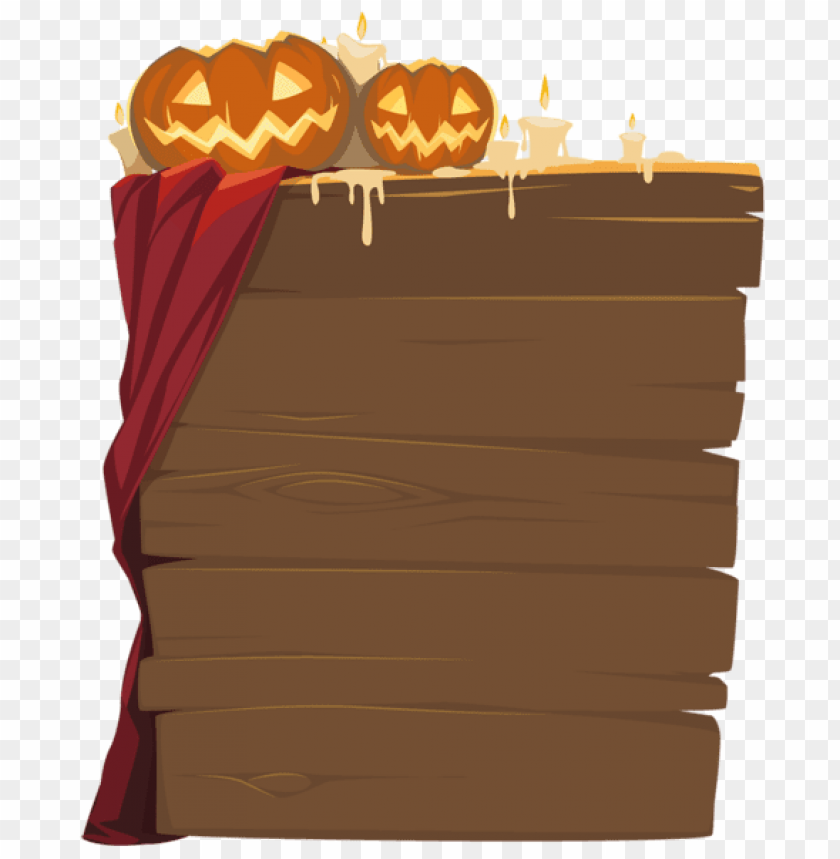 free PNG halloween wooden decor PNG images transparent
