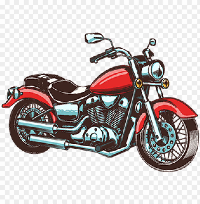 free PNG hand-drawn vintage motorcycle - motorrad gezeichnet PNG image with transparent background PNG images transparent