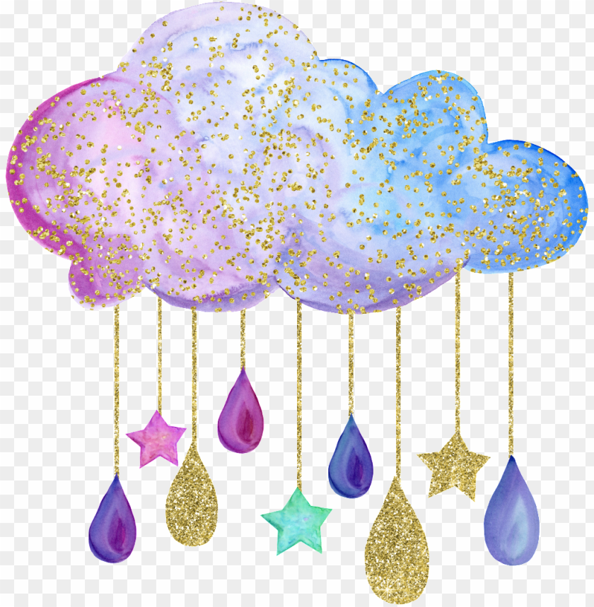 Hand Painted A Colorful Cloud Png Transparent Baby Gender