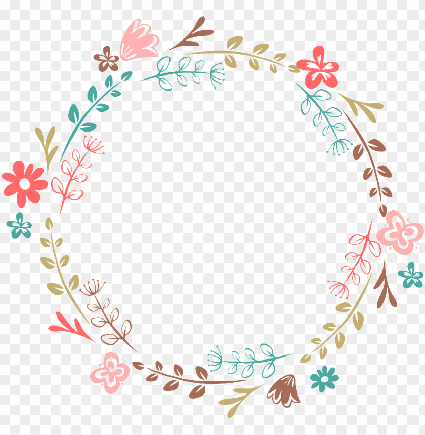 free PNG hand-painted cartoon leaf flower wreath transparent - flower wreath transparent PNG image with transparent background PNG images transparent