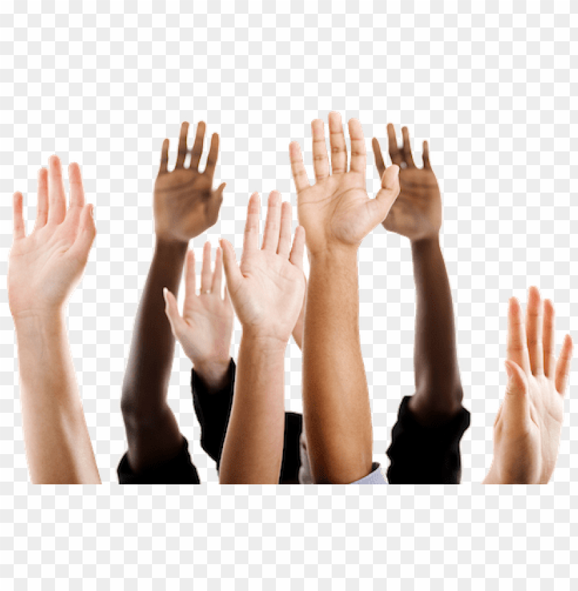 free PNG hands up narrow - democracy and multicultural educatio PNG image with transparent background PNG images transparent