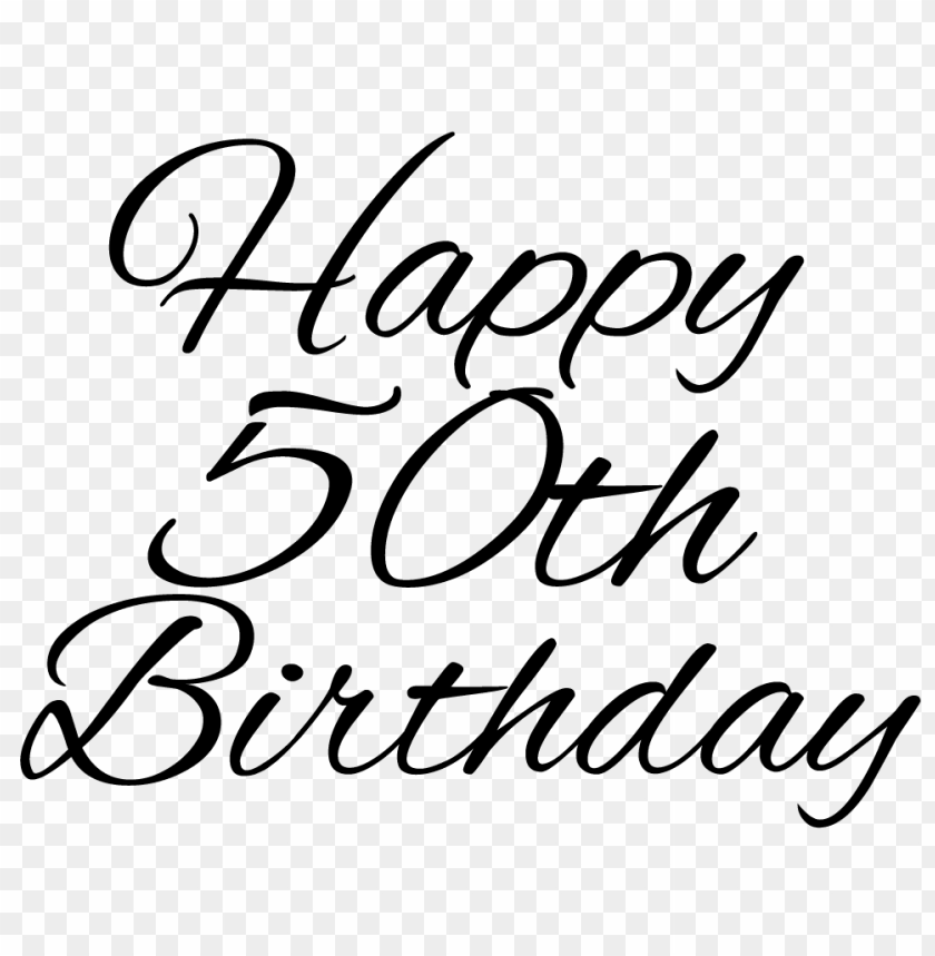 Free PNG Happy 50th Birthday Image With Transparent Background Images