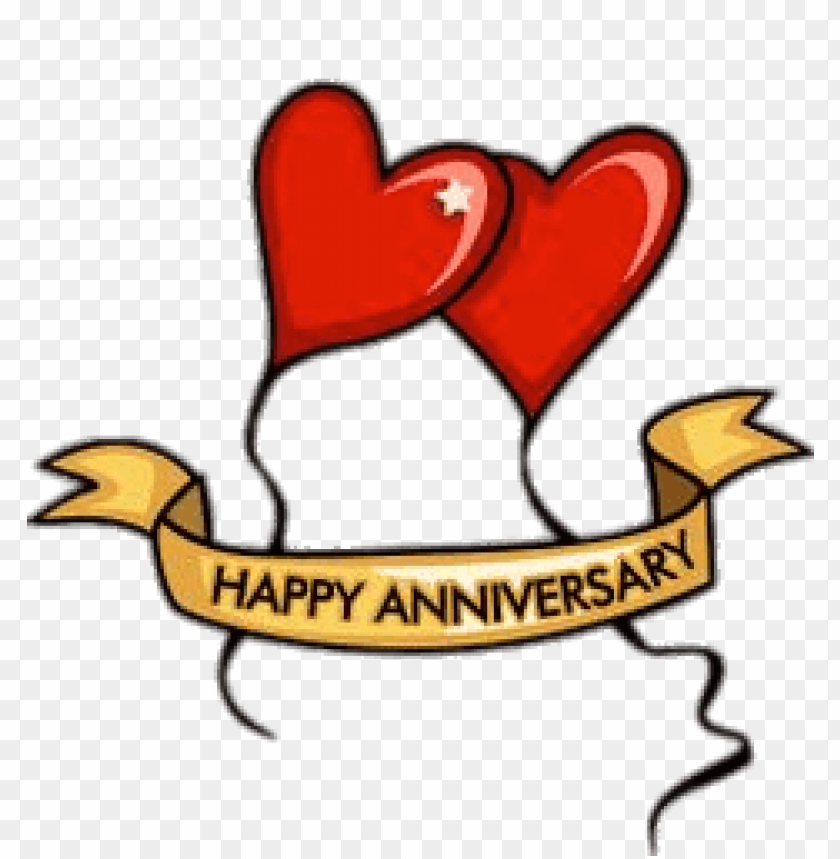 happy anniversary heart balloons PNG image with transparent
