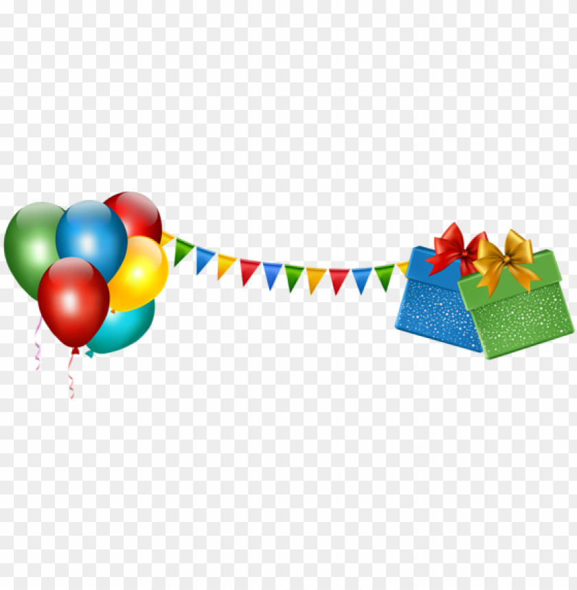 free PNG happy birthday balloons border png vector and photo - party decorations transparent PNG image with transparent background PNG images transparent