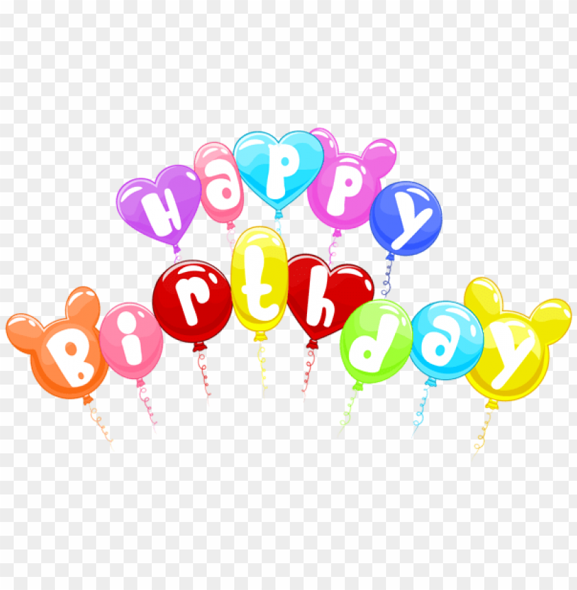 Free PNG Happy Birthday Cute Balloons Png Images Transparent