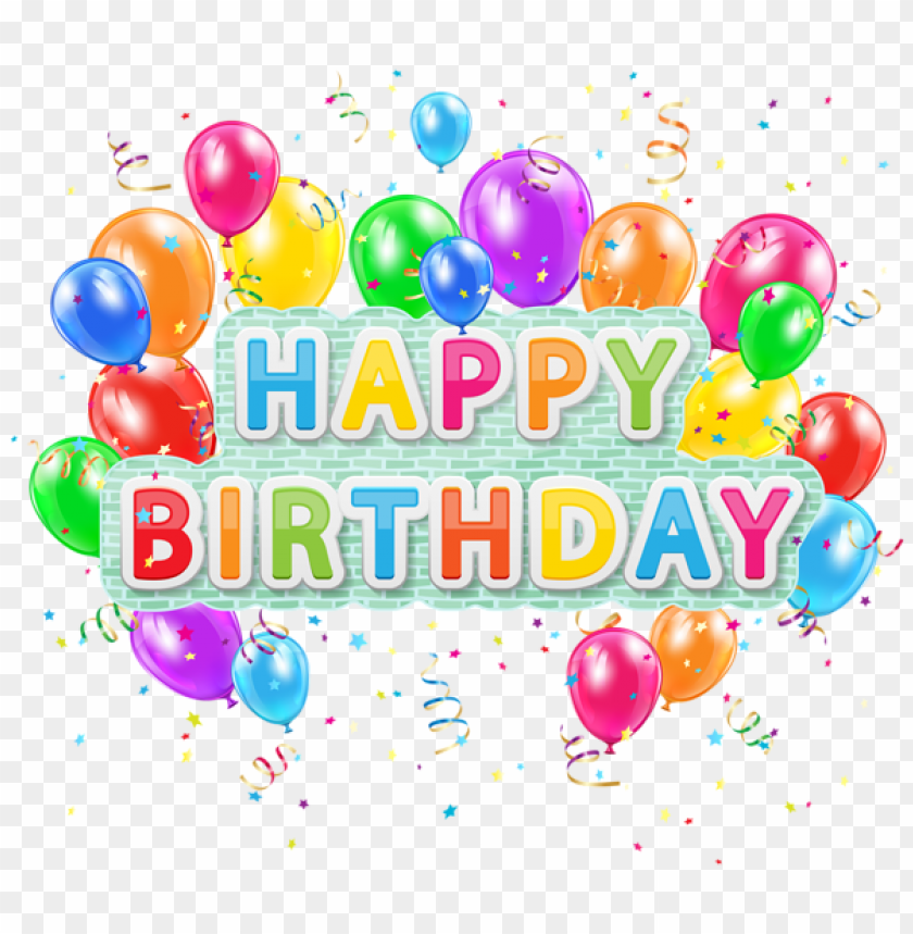 Free PNG Download Happy Birthday Deco Text With Balloons Png Images Background Transparent