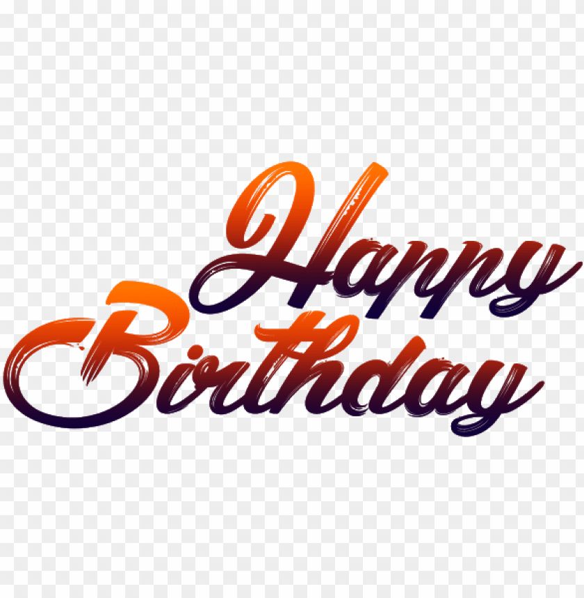 happy birthday for picsart PNG image with transparent