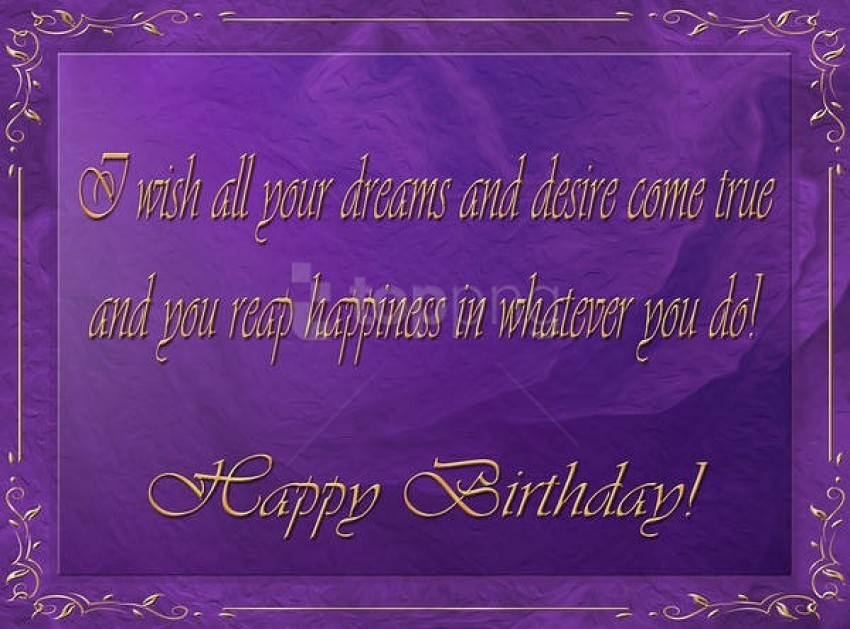 Best Stock Photos Happy Birthday Purple Greeting Card Background