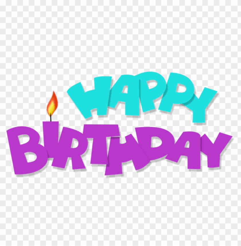 Free PNG Happy Birthday Transparent Blue And Purple Images