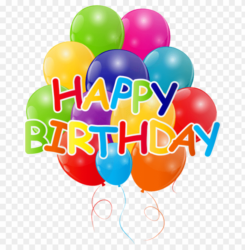 Free PNG Happy Birthday With Bunch Of Balloons Images Transparent