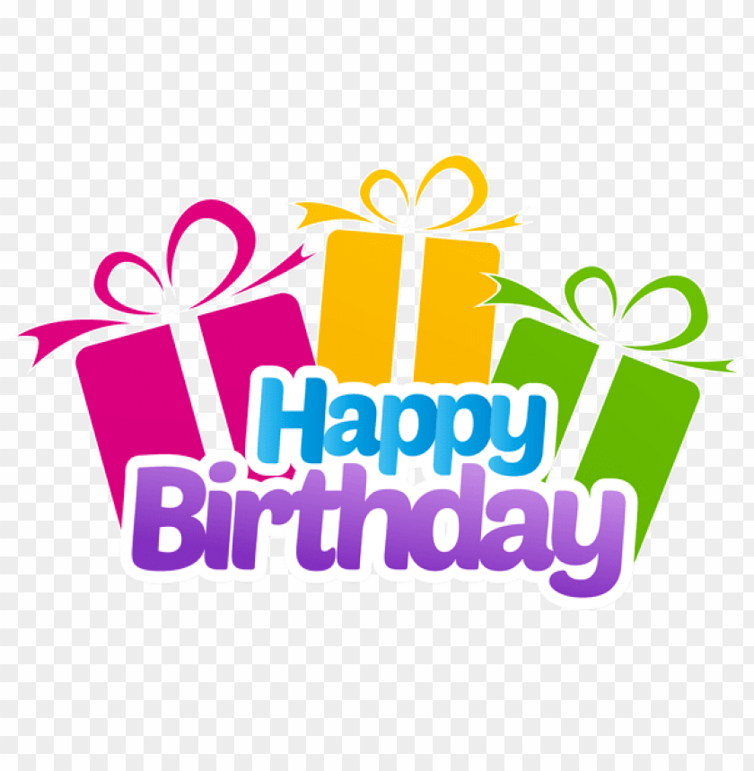 Download Happy Birthday With Gifts Png Images Background