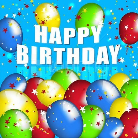 free PNG happy birthdayblue with balloons background best stock photos PNG images transparent