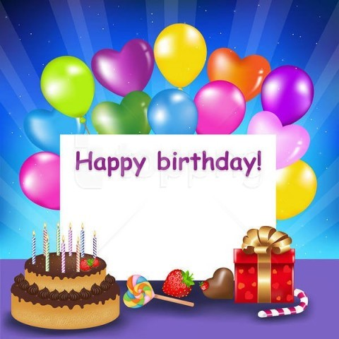 free PNG happy birthdaywith cake and balloons background best stock photos PNG images transparent