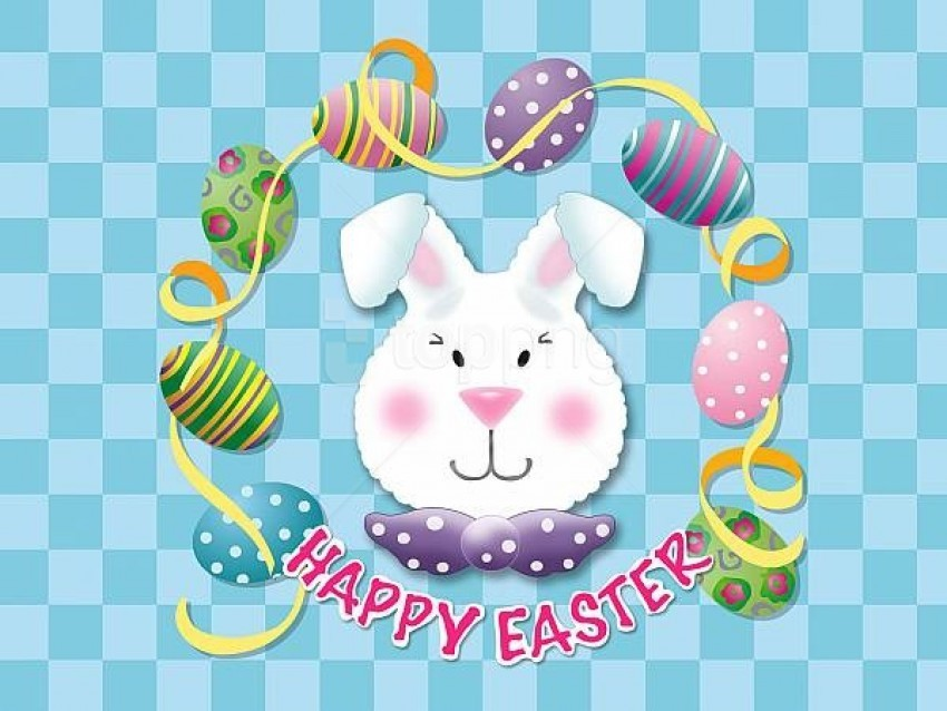 free PNG happy easter bunny background best stock photos PNG images transparent