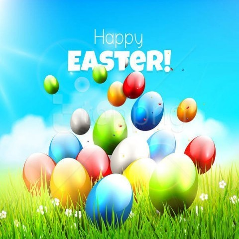 free PNG happy easter grasswith eggs background best stock photos PNG images transparent