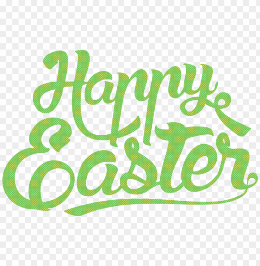 free PNG Download happy easter green text png png images background PNG images transparent